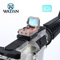 WADSN Tactical Riflescope Flip Red Dot Sight Hunting Mini Collimator Reflex Sight Optic Aluminum for 20mm Picatinny Rail