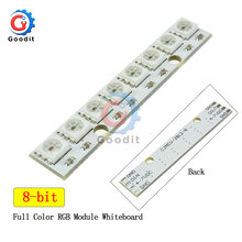 8 * 1Bit 8 Bits WS2812 WS 2811 5050 RGB lampe à LED Module de panneau 5V 8-Bit arc-en-ciel LED lumière précise pour Arduino 8 canaux lumières
