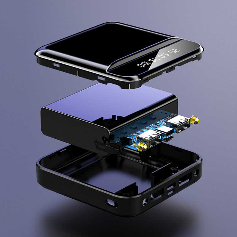 ミニ30000mah電源銀行携帯電話の充電器屋外旅行powerbank ledライトpoverbank液晶デジタルディスプレイスマートフォン