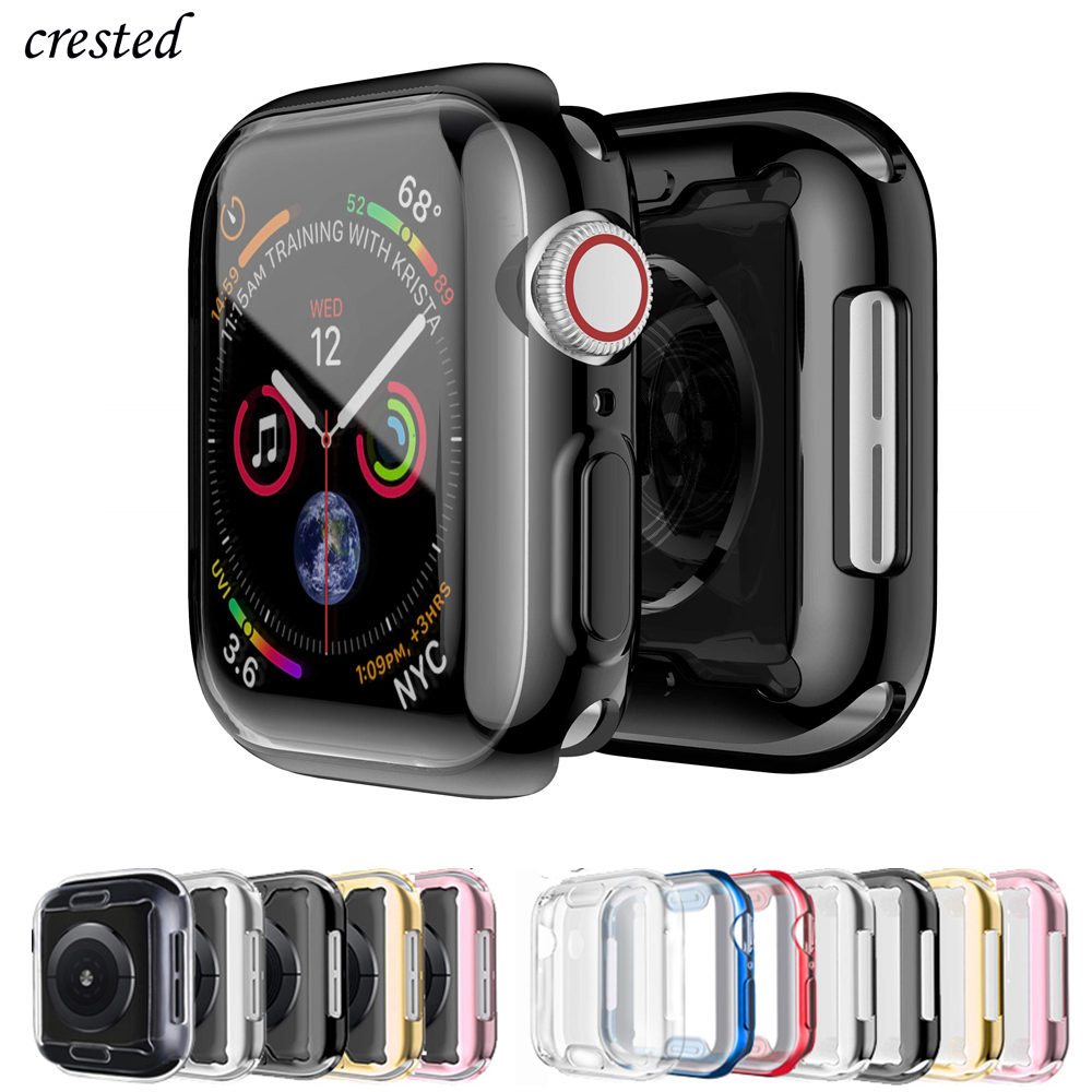 Cover For Apple Watch Case 44mm/40mm IWatch 3 42mm/38mm Accessories TPU Bumper Screen Protector Apple Watch Series 5 4 40 44 Mm