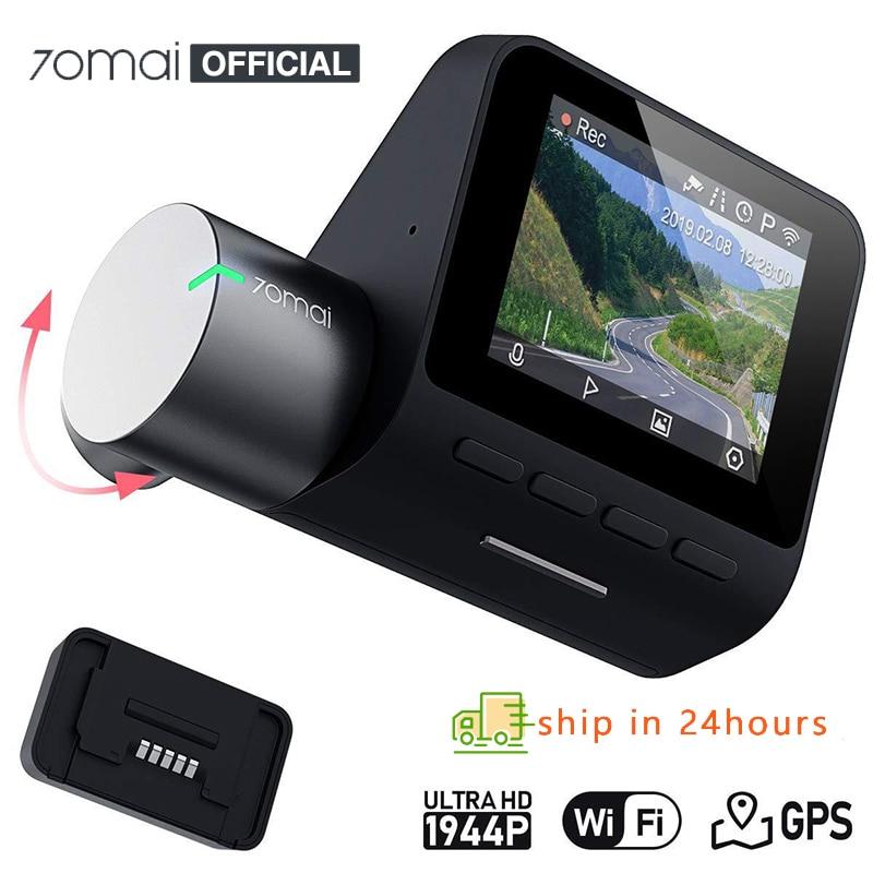 Original 70mai Dash Cam Pro English Voice Control 1944P 70MAI Car DVR Camera GPS ADAS 140FOV Night Vision 24H Parking Monitor