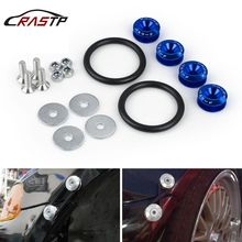 RASTP-Tuning Car Universal Quick Release Fasteners with Logo Aluminum Bumper Fender Washers RS-QRF001