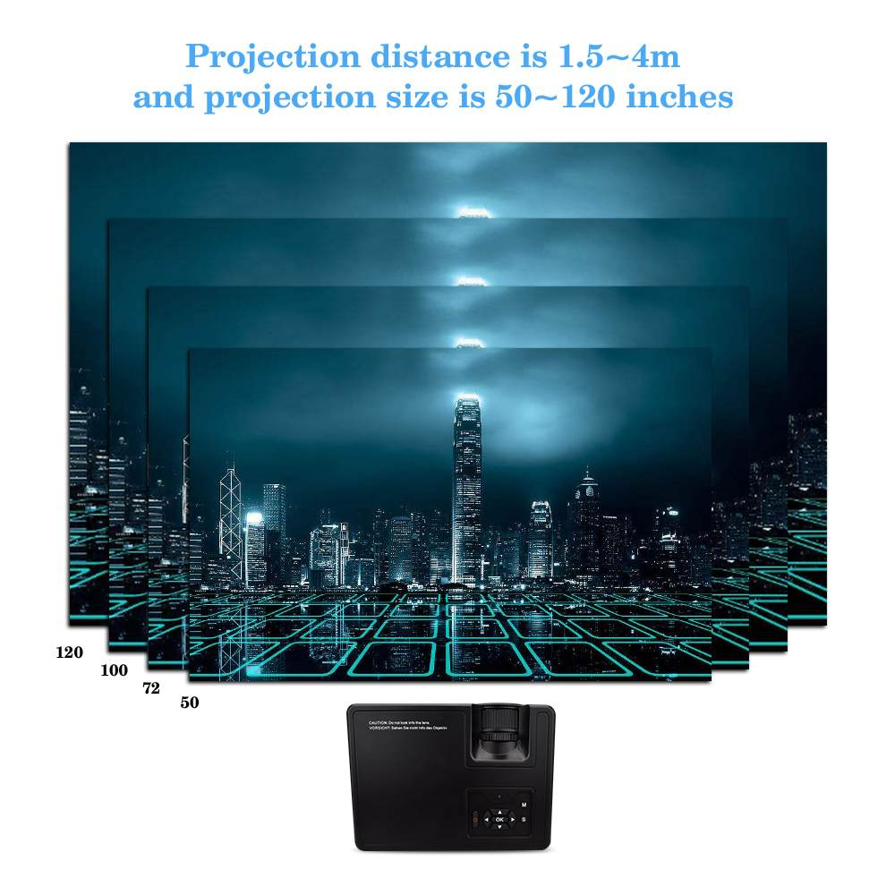 2000 Lumes Mini Projektor Tragbare Zoom Led Full HD Projektor VS 313 Bunte Heimkino Projektoren Unterstützung 4K HDMI /USB/VGA