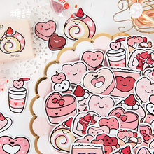 45 pièces/ensemble Kawaii autocollants dessin animé Dessert balle Journal autocollants Scrapbooking bricolage Journal Album Journal autocollant décoratif(China)