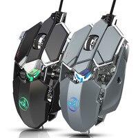 6400DPI PRO Gaming Mouse meccanico USB Computer Mouse Gamer Mouse ottico USB professionale Mause cablato ergonomico per PC portatile