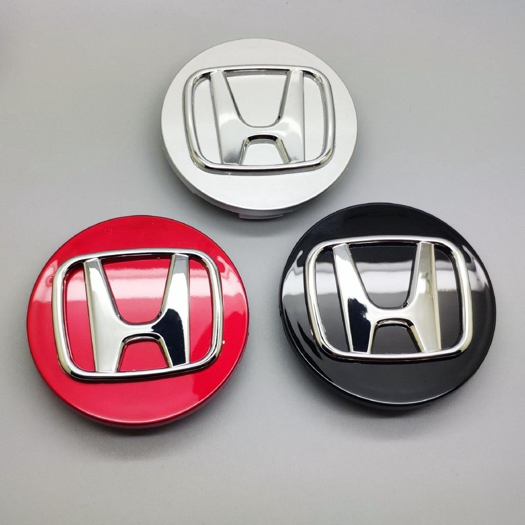 1PCs 69mm Honda Wheel Red Standard Car Accessories For Honda Wheel Cover Car Standard