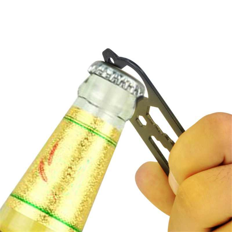 10 в 1 Мультитул Открытый инструменты из нержавеющей стали кемпинг выживания комплект EDC вилка ложка бутылка/открывалка гаечный ключ с карабином пряжки