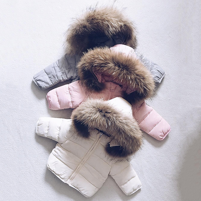 2020 New Winter Solid Baby Girl Clothes Hooded Girls Toddler Button Girls Clothes Girl Zipper Coat Long Coat For Girls Fall Good