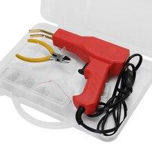 سيارة الوفير البلاستيك عدة لحام أدوات المرآب التيلة البلاستيكية إصلاح آلة الساخن دباسة أداة لحام سيارة الوفير إصلاح مجموعة