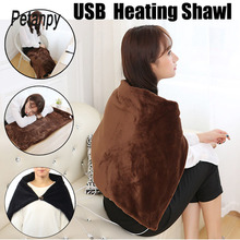 45x80cm Car Home Electric Warming Heating Blanket Pad Shoulder Neck Mobile Heating Shawl USB Soft 5V 4W Winter Warm Health Care цена в Москве и Питере