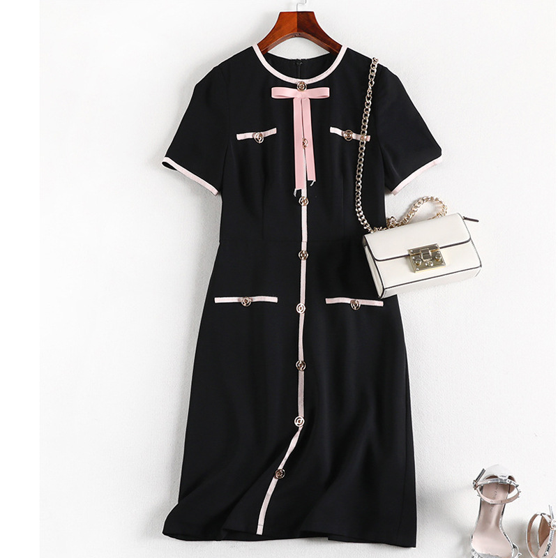 Lan Mu Square Summer Wear Large Size Dress Chiffon Dress Chubby Size Cover Belly Large GIRL'S Slimming By Age 10013