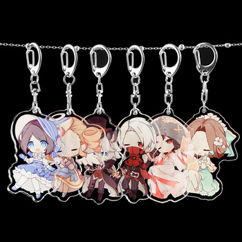 Anime Identity V Keychain Acrylic The Fifth Personalized Naib Subedar Tracy Emma Cartoon Pendant Keyring Japanese Kids 2020 image