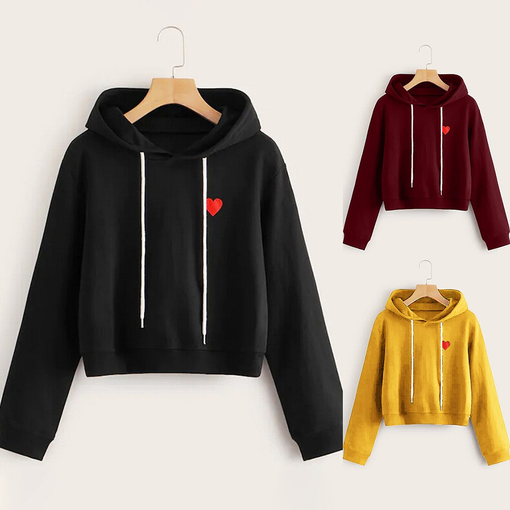 Woman Casual Loose O-Neck Love Print Hoodie Long Sleeve Hoodie Harajuku Sudadera Mujer Women's Sweatshirt 19Sep17