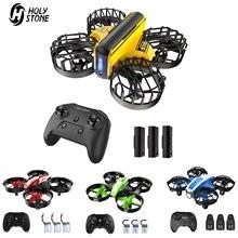 Holy Stone – Mini Drone RC sans tête HS450/210/330, Mini quadricoptère RC, One Key Land Auto, 3 Batteries, hélicoptère