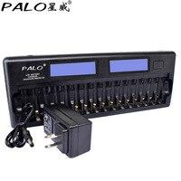 PALO NC32 pantalla LCD de 12 ranuras cargador rápido de batería inteligente protección múltiple micrófono inteligente KTV cargador de batería sin batería