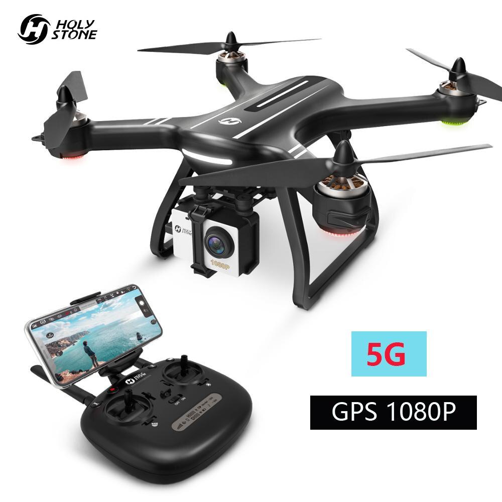 Pierre sainte HS700 Drone GPS 5G 1080P FHD Wi-Fi caméra FPV professionnel RC hélicoptère 1KM gamme de vol moteur sans brosse 2800mAh