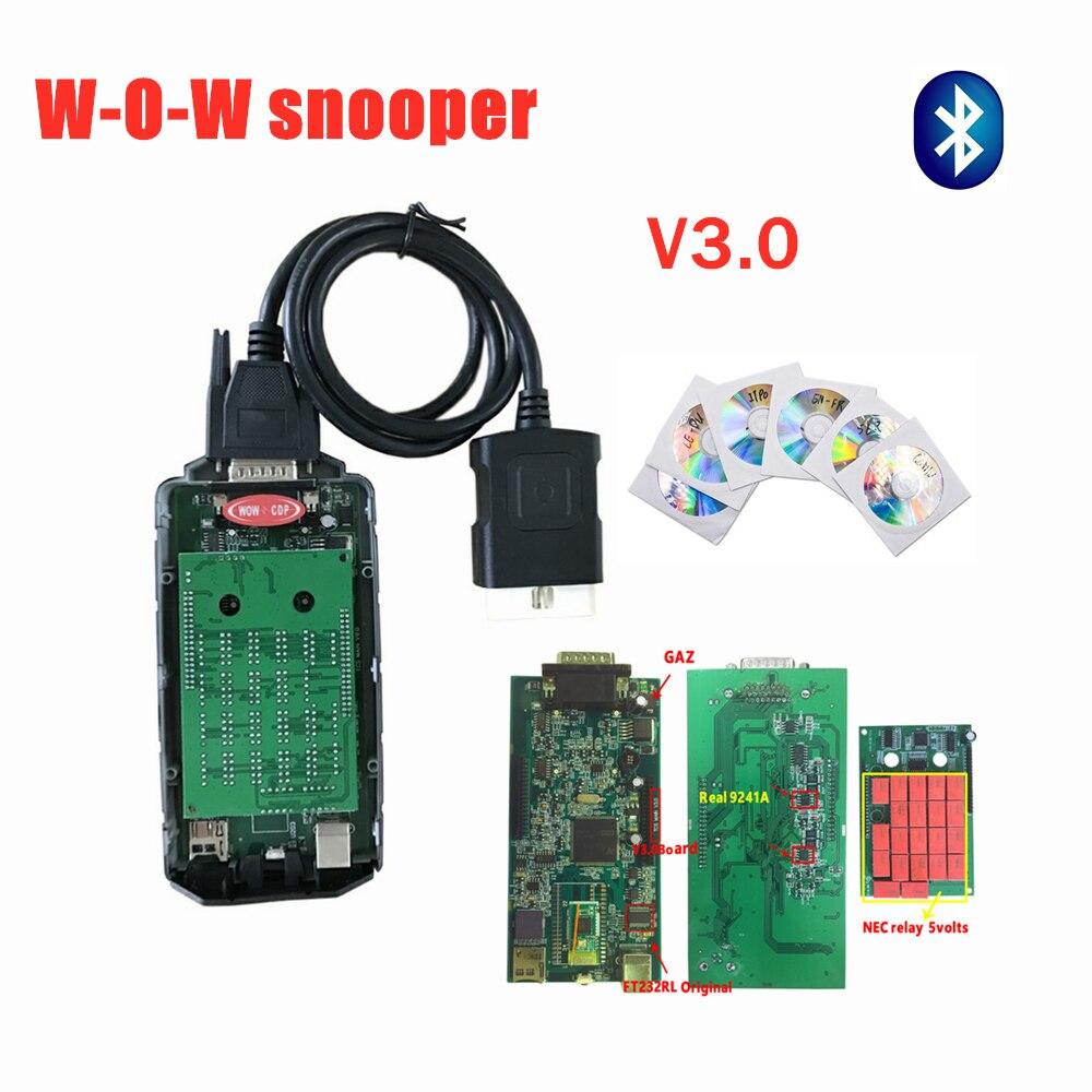 Original shell v3.0 pcb with bluetooth software V5.008R2 keygen scanner obd obd2 diagnostic tool for car truck reader code