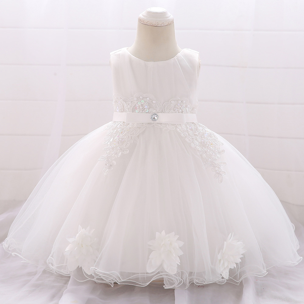 Europe And America New Style Fashion Baby A Year Of Age Small Formal Dress GIRL'S Gown Princess Skirt Wash Formal Dress