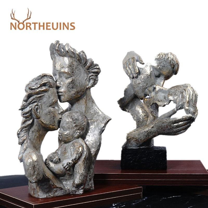 Маска-Статуэтка NORTHEUINS для влюбленных пар, статуэтка брода, истончика, голова, статуэтка с бюстом из смолы, ретро интерьер, украшение для дома...