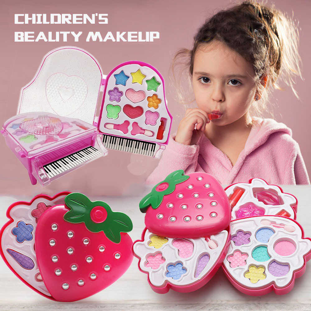 Kids Girl Make Up Toy Set Pretend Play Princess Beauty Makeup Safe Non-toxic Kit Toys Eye Shadow Cosmetics Dressing Girls Gifts