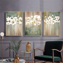 3pcs decoracion hogar moderno pintura da lona da parede da arte impressa pintura da flor da lona cuadros decoração cópias da lona moderna