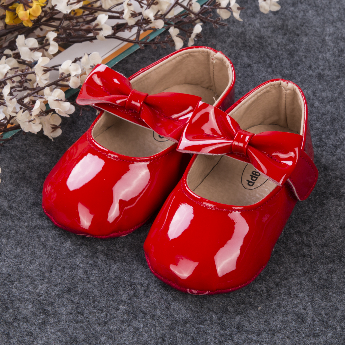 Cute Baby Girl Soft Soled PU Leather Shoes Infant Toddler Moccasin 0-18Months Solid Children New Fashion Baby Girls Shoes