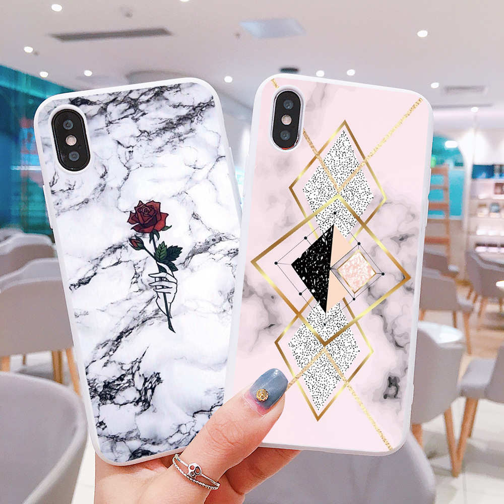 Marble Soft TPU Silicone Case for Samsung <font><b>Galaxy</b></font> <font><b>S10e</b></font> S6 S7 Edge S8 S9 S10 Plus A30 A50 A60 A70 A7 A9 2018 Note 8 9 10 Pro Coque image