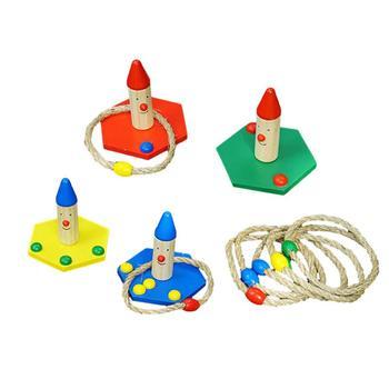 Śmieszne dzieci zabawki sportowe na świeżym powietrzu Hoop Ring Toss Ring Toss Quoits gra ogrodowa zabawka basenowa zabawa na świeżym powietrzu zestaw gier rozrywka tanie i dobre opinie CN (pochodzenie) 3 lat Drewniany plac zabaw Ring Toss Play Set Plac zabaw na świeżym powietrzu Other Children Rope Throwing Game