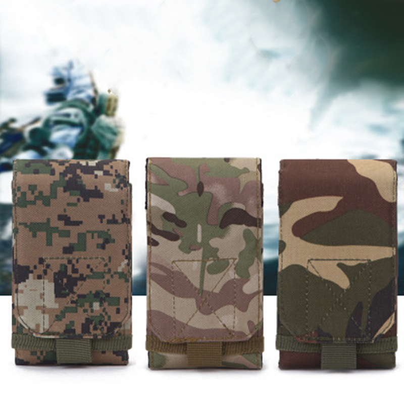 Outdoor Camouflage Bag Tactical Army Phone Holder Sport Waist Belt Case Waterproof Nylon EDC Sport Hunting Camo Bags in Backpack image