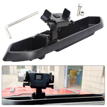 Black ABS Mobile Phone Holder Car GPS Bracket Dash Mount Holder Storage Box For Jeep Wrangler JL 2018 17.32x3.74x2.76 Inch стоимость
