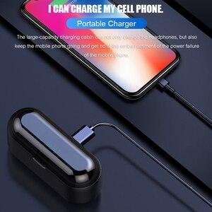 Image 4 - หูฟังบลูทูธหูฟังไร้สาย TWS 5.0 หูฟังกีฬาหูฟังสำหรับโทรศัพท์มือถือกันน้ำพร้อม Power Bank