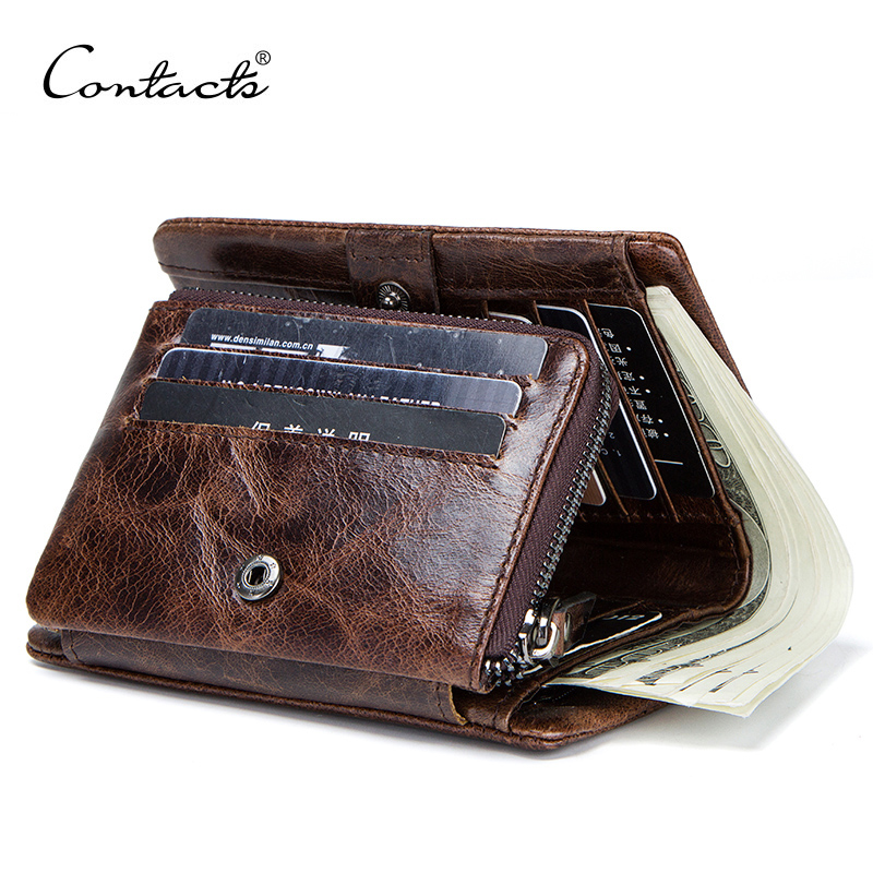 Genuine Leather Men Wallet with Coin Pocket Vintage Hasp Mens Wallets with Card Holder Luxury Brand Short Zip Coin Purse for Men|Wallets| - AliExpress