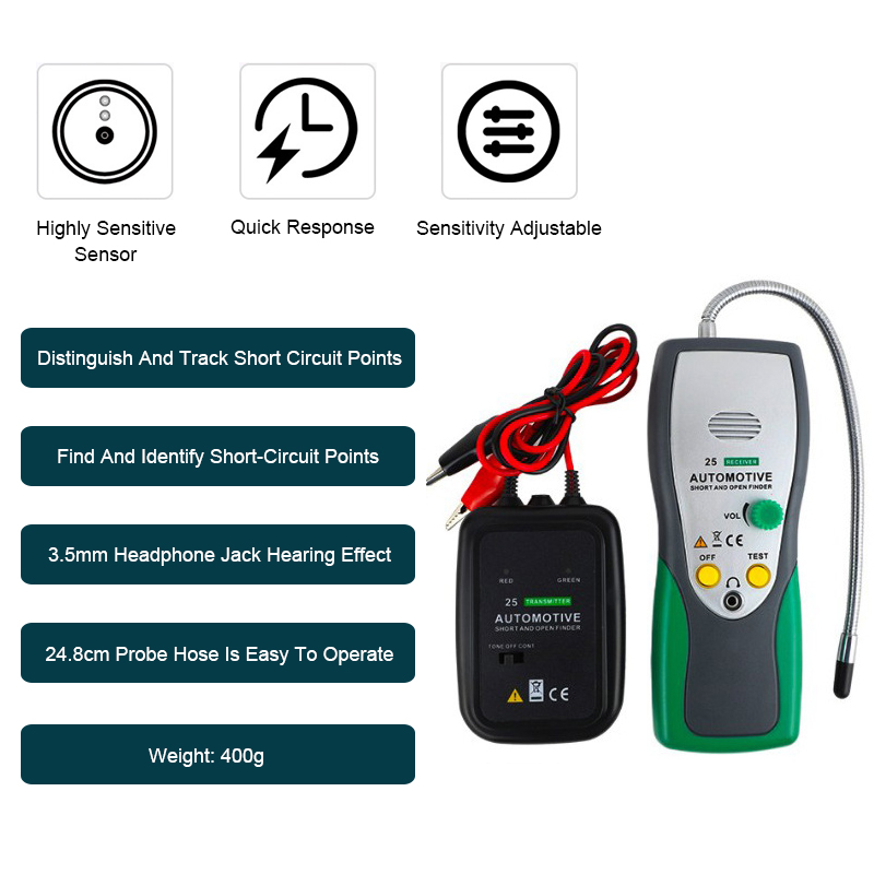 Automotive Cable Wire Tracker Detector  Electric Cable Finder Car Repair Tool Car Tracer for Cables/Wires PK EM415 Pro