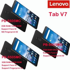 Image 2 - Originale Lenovo Tab V7 PB 6505MC 3GB di RAM 32GB di ROM Per Smartphone Snapdragon 450 Octa Core 5180mAh 6.9 pollici android 9.0 Torta di OTA
