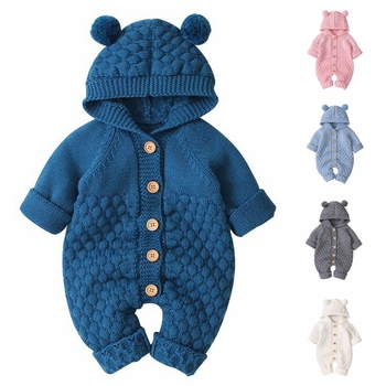 Baby Rompers Set Newborn Solid Baby Jumpsuit Overall Long Sleeve Baby Boys Clothes Knitted Girls Baby Casual Clothes baby knitted clothes baby girls rompers jumpsuit boy newborn infant baby sleeveless outfits clothes cute overall