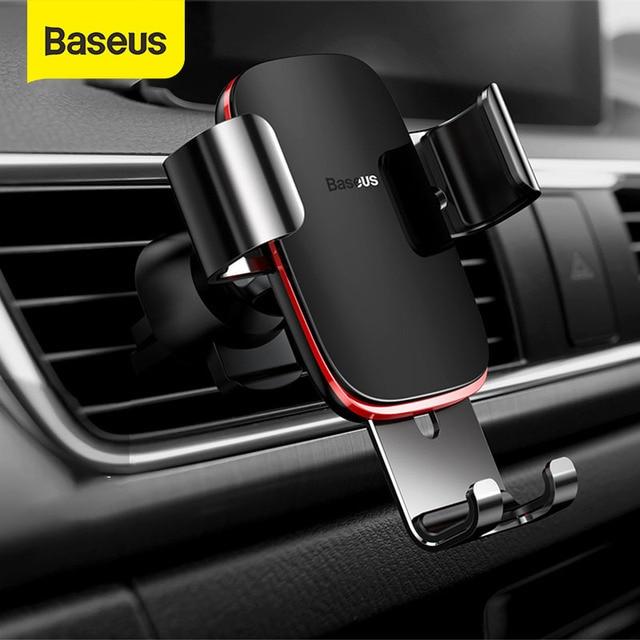 Baseus הכבידה אוניברסלי רכב טלפון מחזיק אוויר Vent עבור iPhone Redmi הערה 7 תמיכה Smartphone קליפ הר מחזיק מעמד