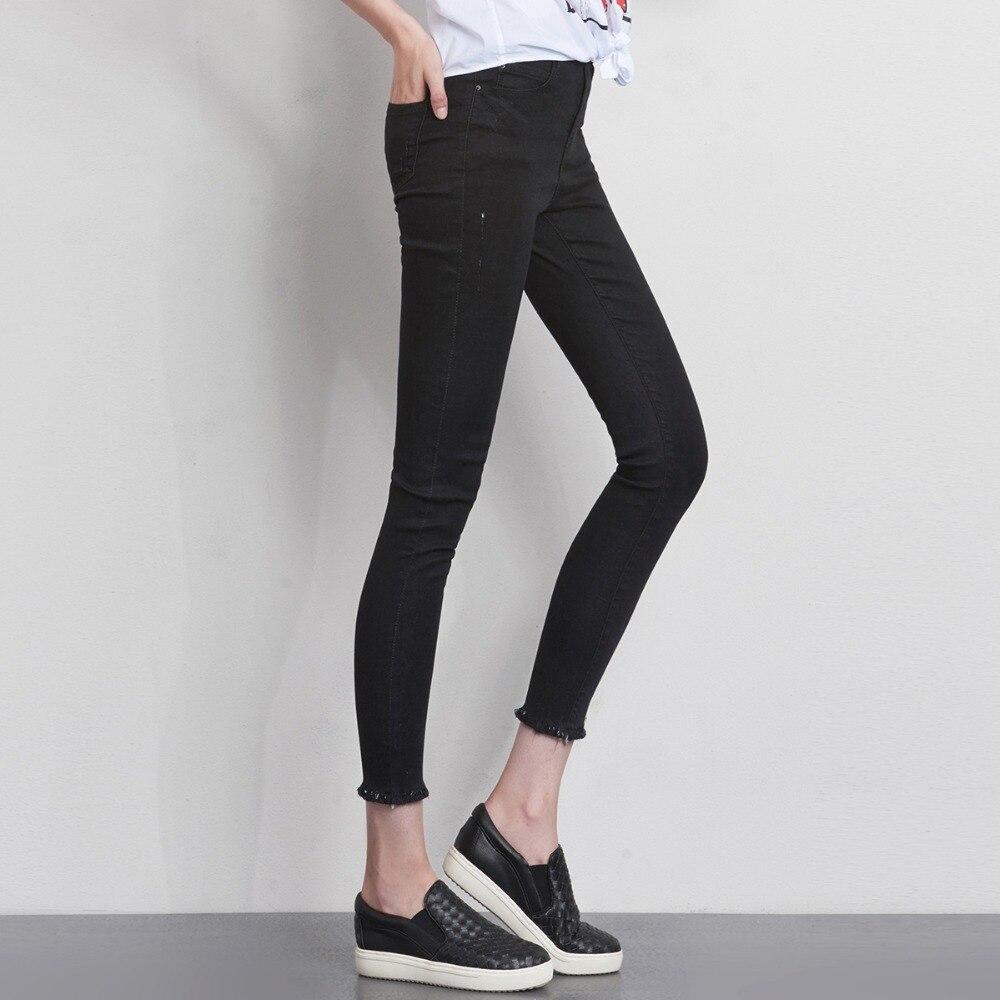 LEIJIJEANS Fashion Autumn Leggings Blue S 6XL Woman Mid Waist Plus Size women High Elastic Full Length Pants Skinny pencil Jeans 25