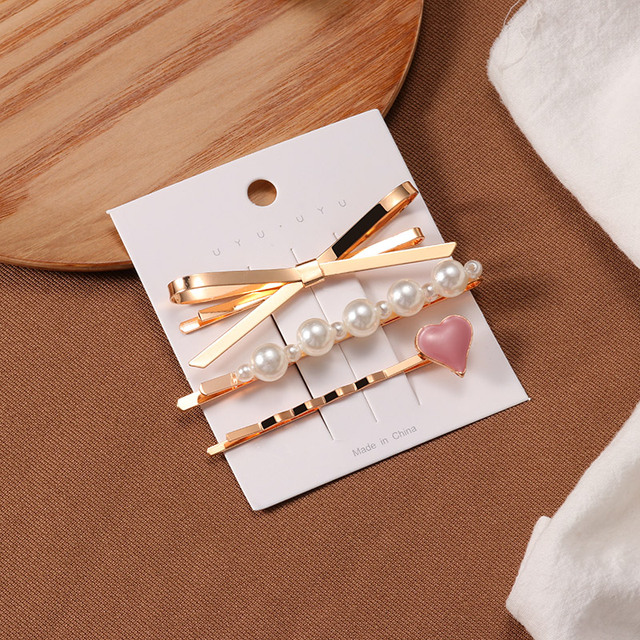 Korea Style Fashion Pearl Hair clip for Women Romantic Female Jewelry  Hairpin 2021 Accessories Hair Stick Barrettes Wholesale 6