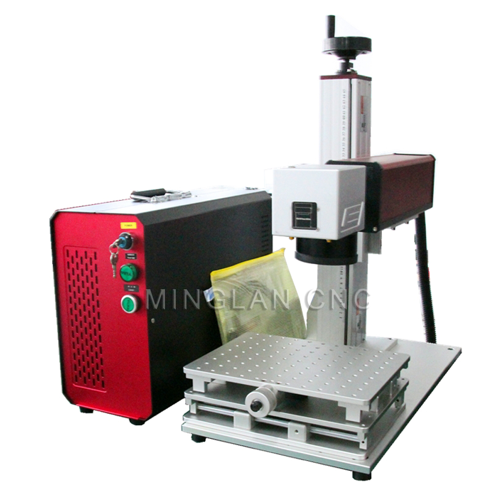 30W Separated Fiber Laser Nameplate Marking Machine 20w 30w 50w Fiber Laser Metal Laser Engraving Machine Suitable For Stainless