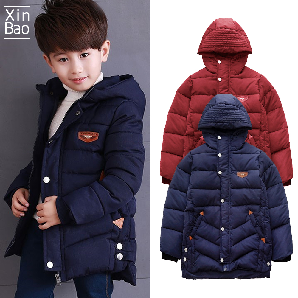 Child Kids Boy Winter Warm Heavy Hooded Coat Thick Jacket padded Tops