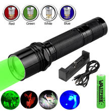 VASTFIRE 6P Scout Gun Lamp Tactical Hunting Flashlight Aluminum 1 Mode Torch Lintern+Replaced RGB Light Head+18650+USB Charger(China)
