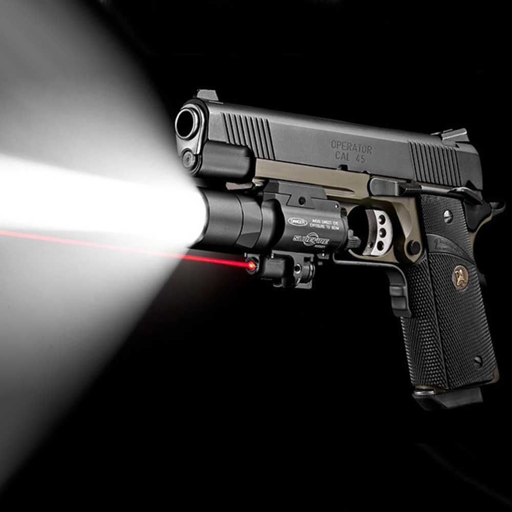 X400 Tactical LED Flashlight+Red Laser Combo For Airsoft