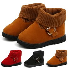 Toddler Infant Newborn Winter Boots Kids Baby Girls Winter Warm Solid Short Boots Bootie Casual Shoes Botas Bebe Nina Ботинки(China)