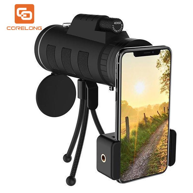 Mobile-Phone-Lens Clip-Tripod Telescope Smartphone-Camera 40x60 Fishing for Camping Hiking title=