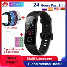 Huawei Honor להקת 5 /4 חכם להקת דם חמצן 0.95 אינץ קצב לב צג 5ATM עמיד למים Bluetooth 4.2 כושר צמיד