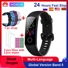 Huawei Honor Band 5 /4 Smart Band Bloed Zuurstof 0.95 Inch Hartslagmeter 5ATM Waterdichte Bluetooth 4.2 Fitness armband