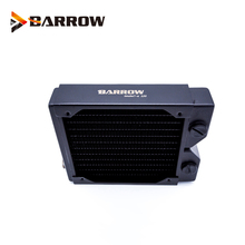 BARROW 34mm Thickness Copper 120mm Radiator Computer Water Discharge Liquid Heat Exchanger G1/4 Threaded use for 12cm Fans