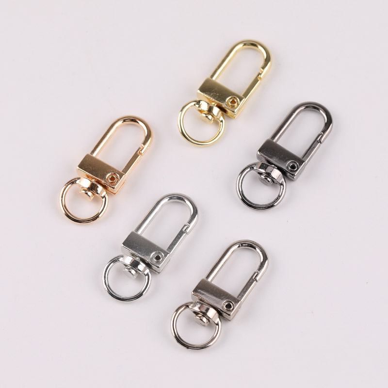 Diy Hardware Accessories Rotating Dog Buckle Zinc Alloy Bag Hook Buckle Key Ring Chain Universal Buckle