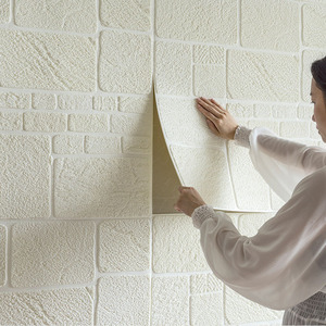 70*70 см 3D кирпичные настенные наклейки для украшения комнаты, простые самоклеящиеся обои для спальни, гостиной, ТВ фон, Настенная Наклейка