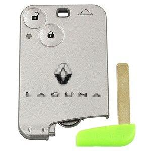Image 2 - 5PCS/LOT,2 Button Smart Card Remote Key Fob 433MHz PCF7926 ID46 Chip For Renault Laguna Espace Vel Satis 2001 2007